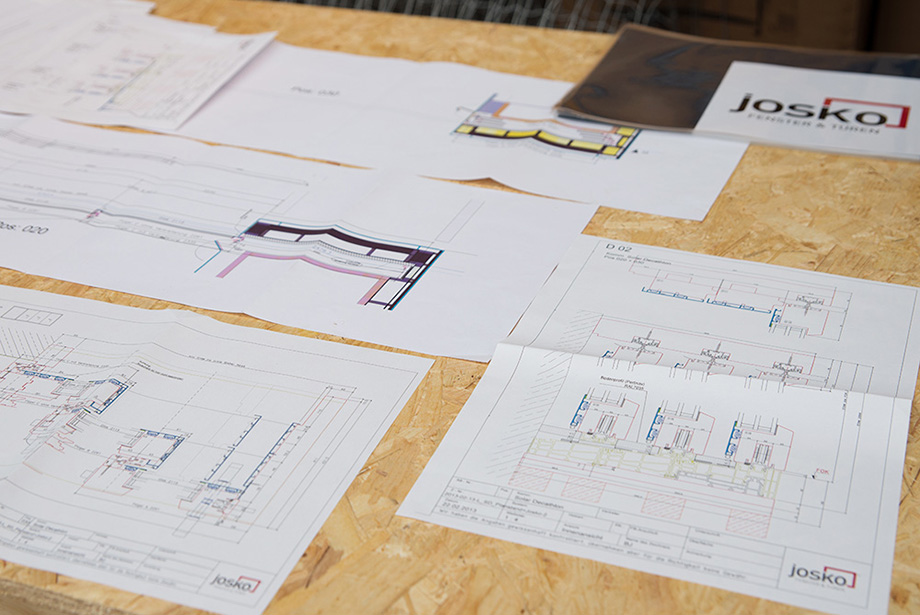 Detailed plans for the windows