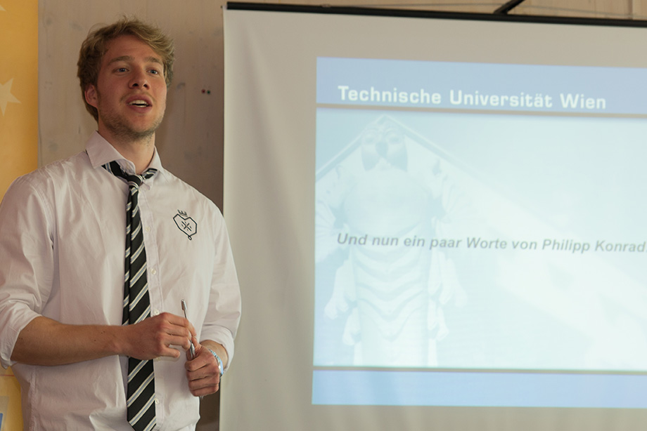 Philipp, our health and safety officer holding a presentation