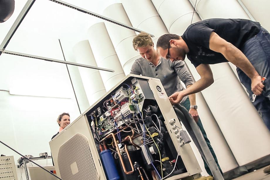 Rainer adjusting the air conditioning