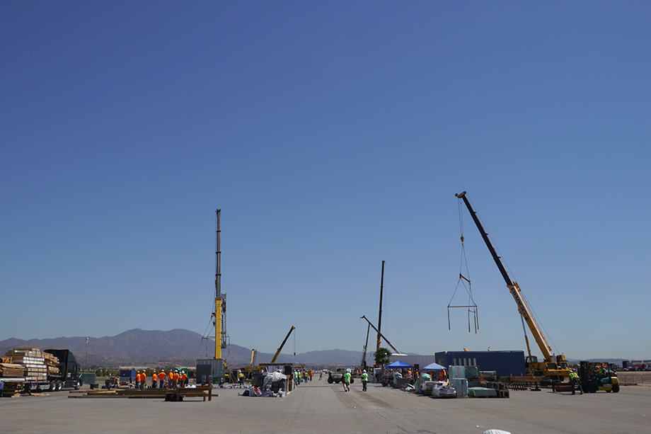 Panoramic view of the solar decathlon site.