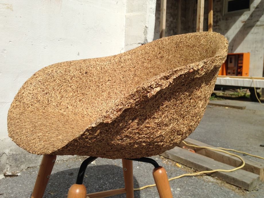 A raw model of the first chair.