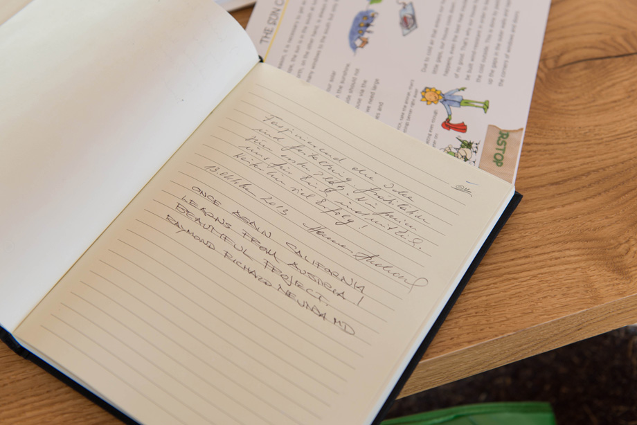 The LISI guest book.