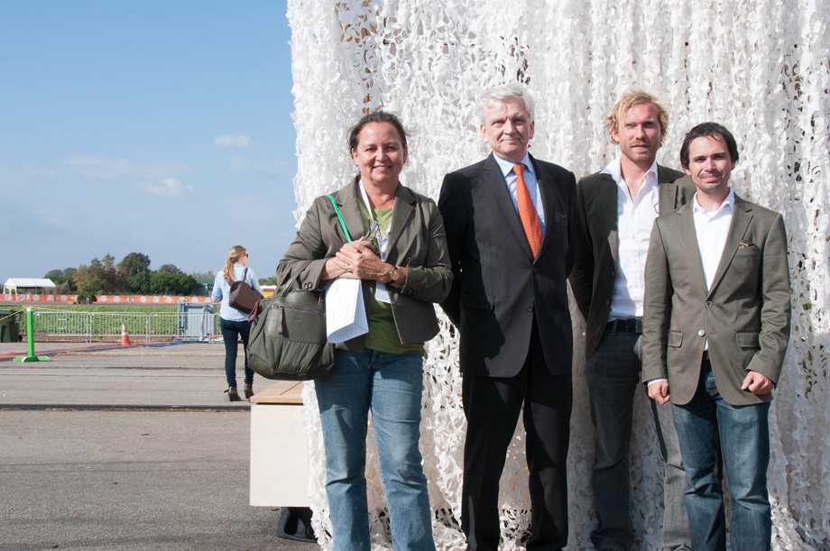 LISI's project managers with Austrian embassador to the US Hans Peter Manz.
