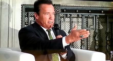 Arnold Schwarzenegger talking