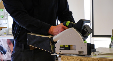Festtool presents the first circular saw with battery packs.